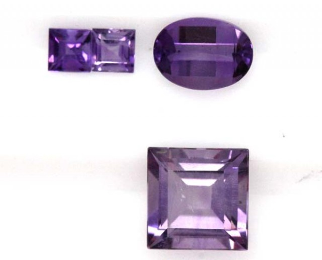 AMETHYST FACETED STONE(PAIR) 2.50 CTS  CG-1023