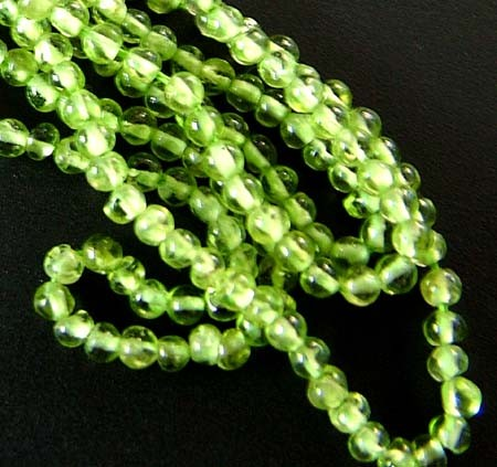 PARCEL PERIDOT BEAD STRAND 98.40 CTS [GT 1728]