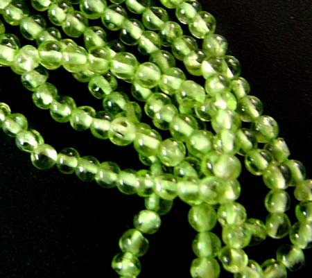 PARCEL PERIDOT BEAD STRAND 98.05 CTS [GT 1729]