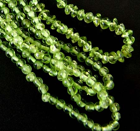 PARCEL PERIDOT BEAD STRAND 110.60 CTS [GT 1734]