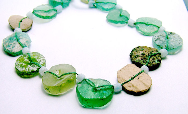80 CTS ANCIENT ROMAN GLASS DRILLED STRAND   SG-862