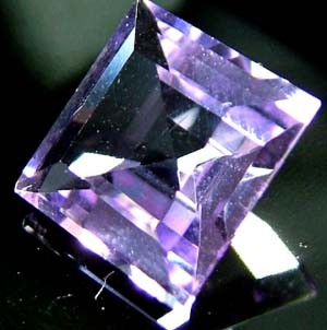 vVS AMETHYST SOFT BRIGHT LILAC  -SQUARE CUT  3.65 CTS S 4872