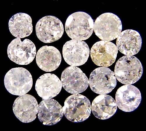 GENUINE  DIAMOND PARCEL 1.3-1.5 POINTER 0.195 CARATS TW 204