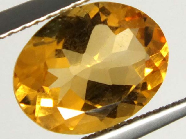 CITRINE FACETED NATURAL STONE 1.95 CTS TBG-1682