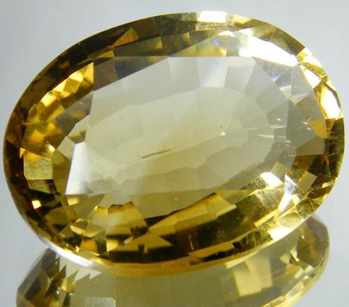 CERT LARGE GOLDEN CITRINE GEMSTONE 16.43 CARATS  0127