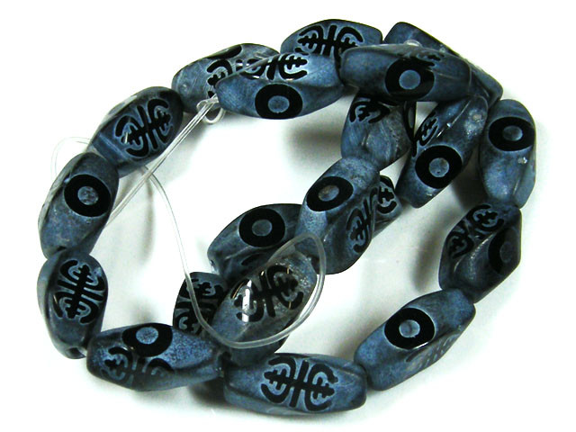 BLACK ASTROLOGICAL BEADS 191  CARATS TO366A