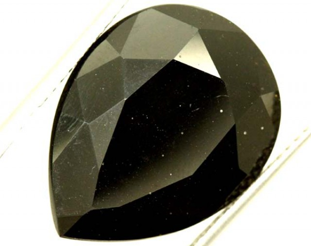 BLACK ONYX STONE FACETED  22 CTS   ADG-793