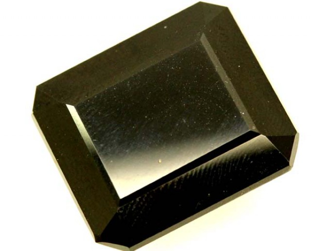 BLACK ONYX STONE FACETED  28 CTS   ADG-792