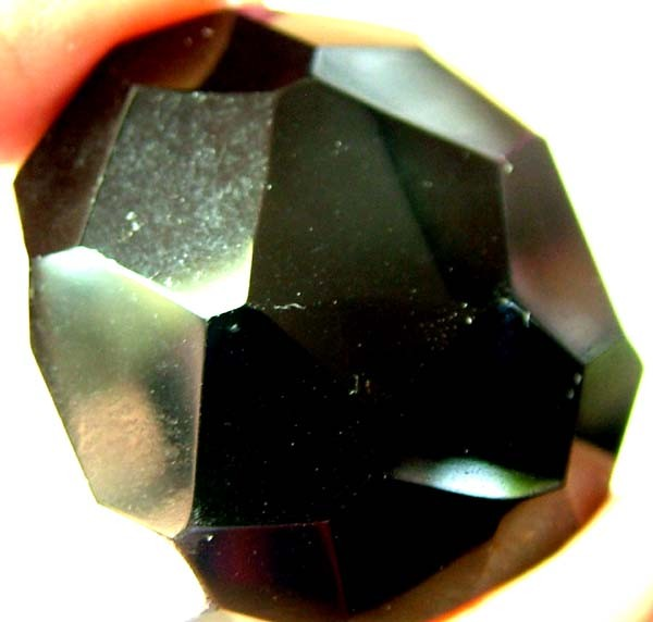 BLACK ONYX BEAD FACETED   137 CTS   AS-2140