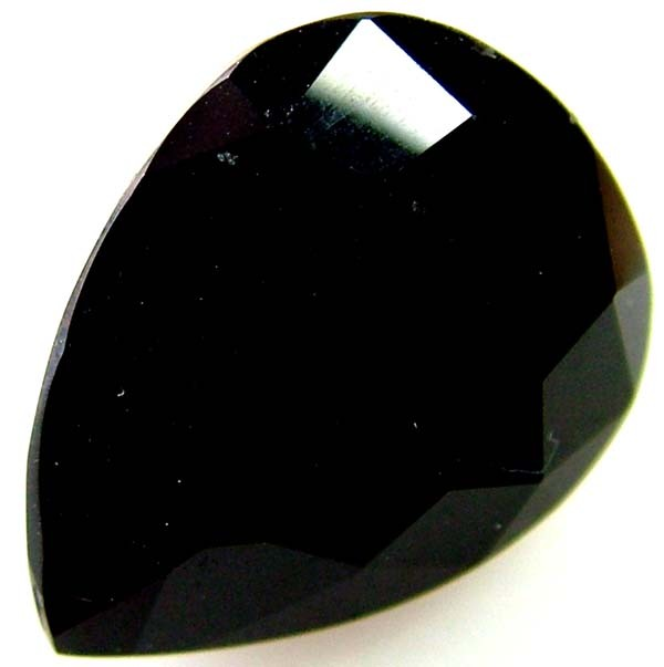 BLACK ONYX STONE FACETED   12 CTS   AS-2164