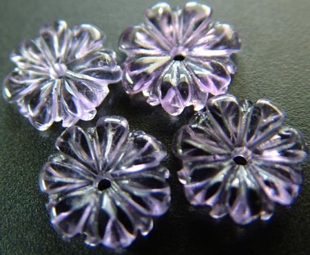 PARCEL OF   AMETHYST CARVING 10  MM 5.90 CTS [MX4833 ]