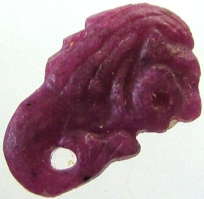 RUBY LION CARVING 7.04 CTS [MX 4861]
