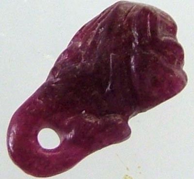 RUBY LION CARVING 2.20 CTS [MX 4872]