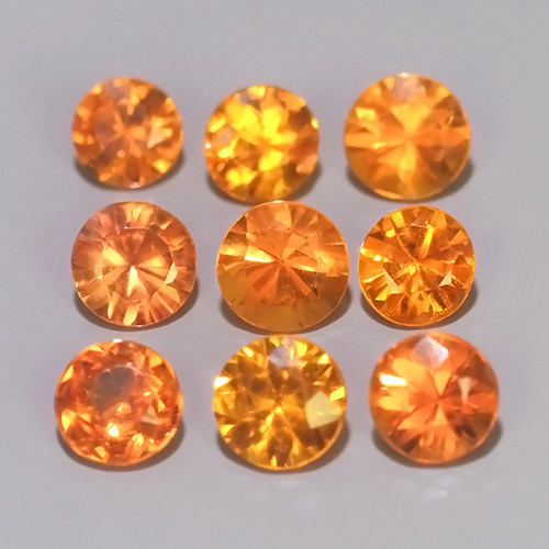 1.25 CTS~Excellent Natural Intense Beautiful Orange red Sapphire Round!!