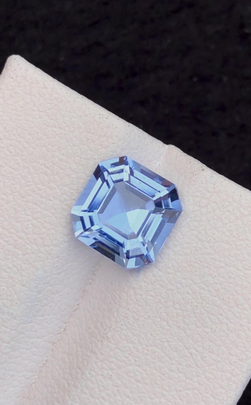 2.40Ct Santa Maria Color Asscher Cut Natural Aquamarine