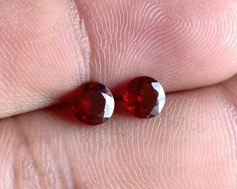 5x5 mm Round Garnet Gemstone Pair 100% NATURAL AND UNTREATED VA1053