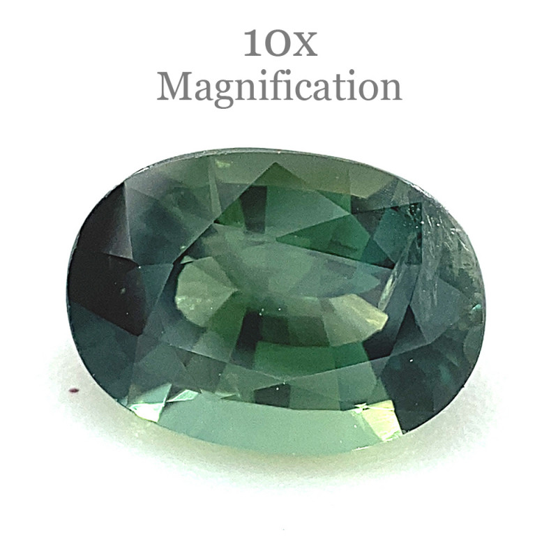 1.17ct Oval Teal Green Sapphire from Australia Unheated