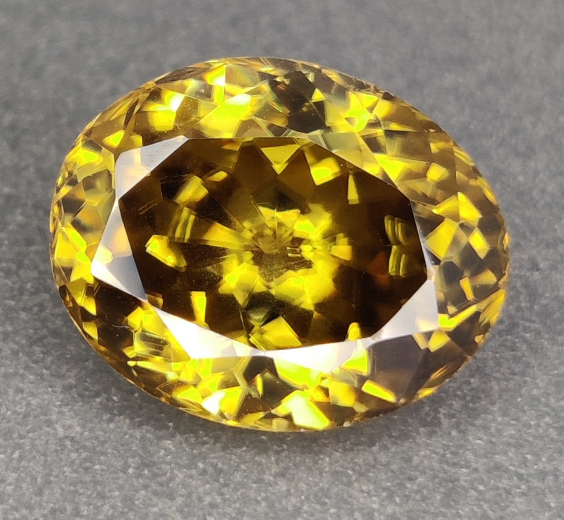 11.20 CTS TOP EXCELLENT LUSTER NATURAL ZIRCON PERFECT CUT UNHEATED SRI LANK