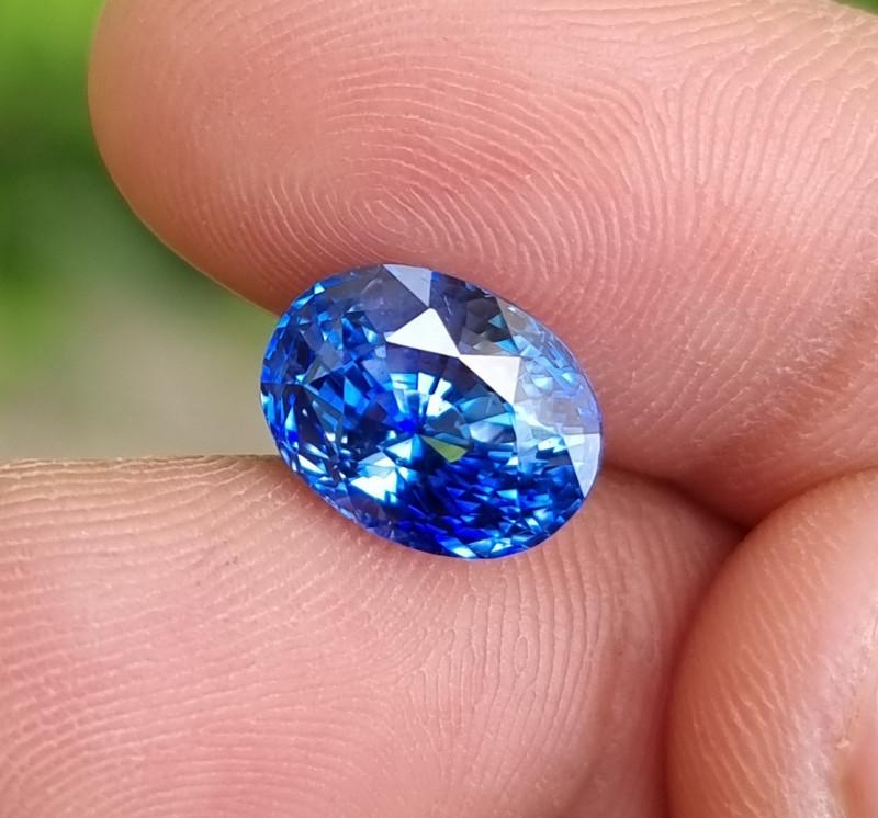 TOP 5.82 CTS NATURAL STUNNING CORNFLOWER BLUE SAPPHIRE SRI LANKA