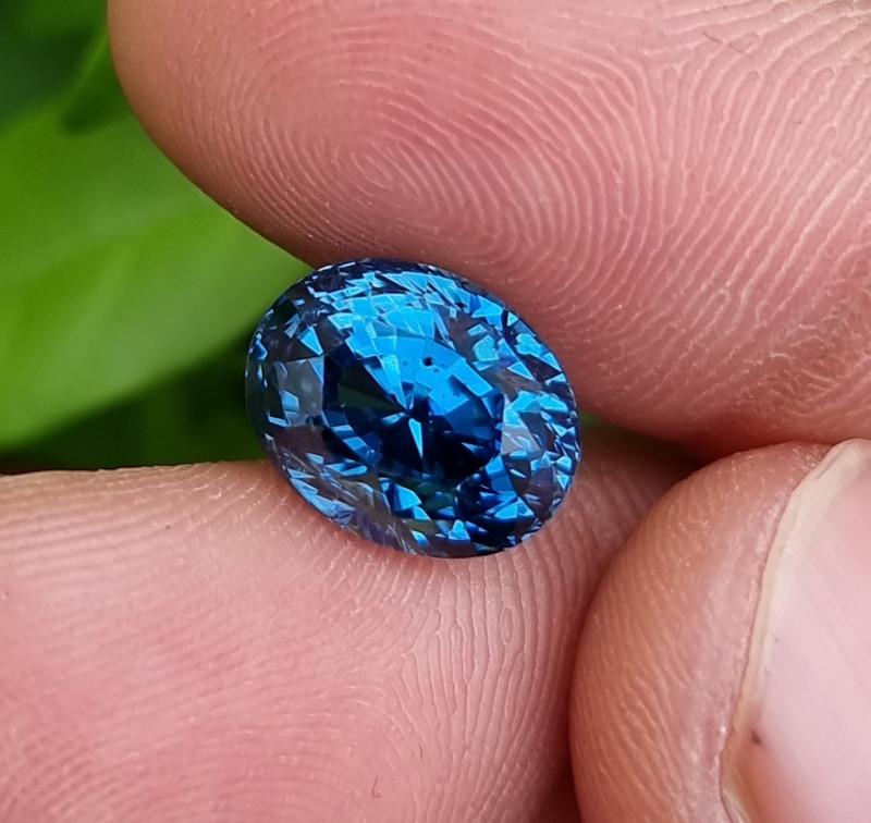 NO HEAT 7.50 CTS NATURAL STUNNING TOP BLUE TO CORNFLOWER BLUE SAPPHIRE