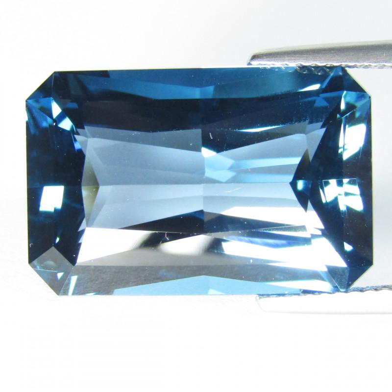 22.74Cts Sparkling Natural London Blue Topaz Radiant Cut Loose Gemstone