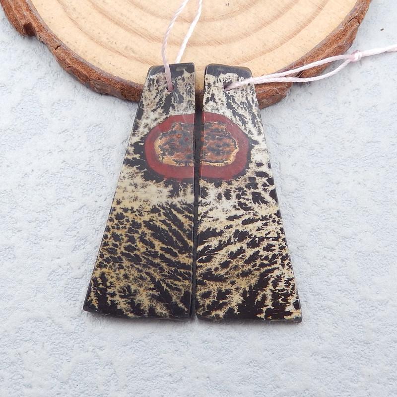 D2573 - 35.5cts natural chohua jasper earrings bead pair,chohua jasper earr