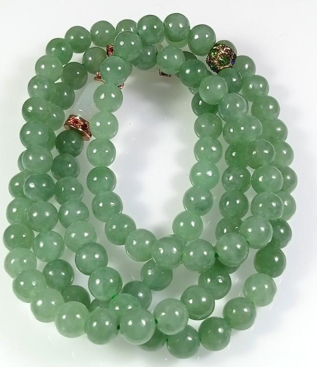jadeite jade beaded necklace