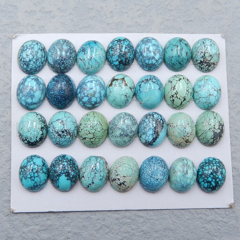 D2610 - 77.5cts Lucky Turquoise, Handmade Gemstone, Turquoise Cabochons, Lu