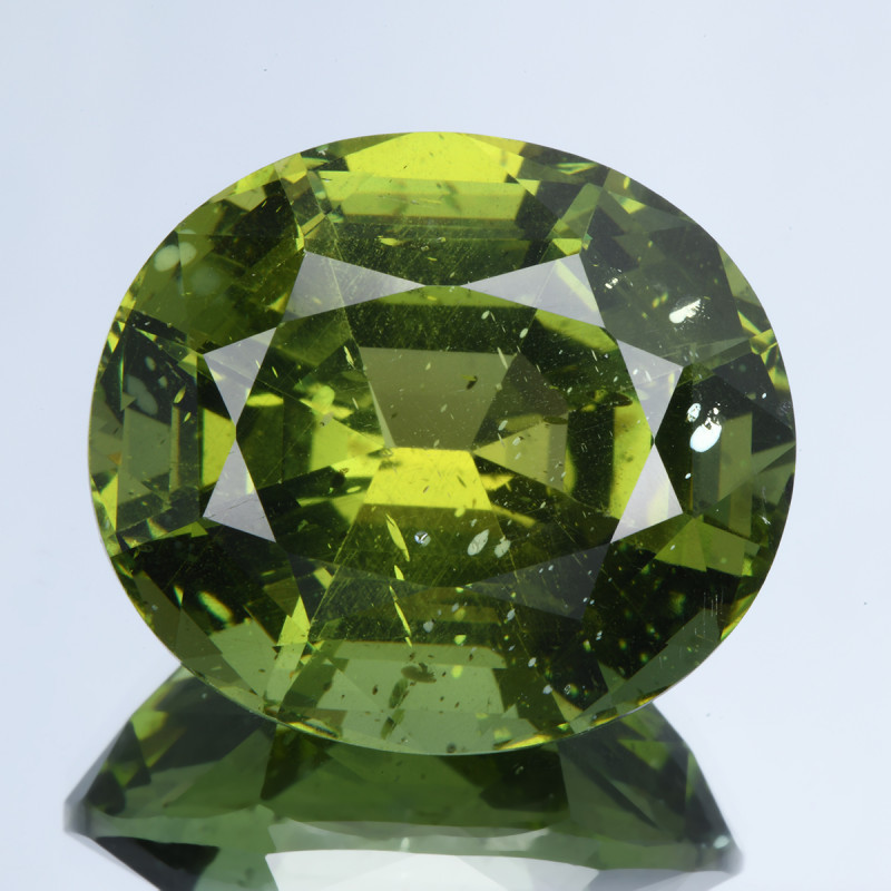 No Treat&NoHeat 35.50Ct Green Apatite Perfect Cut Gemstone