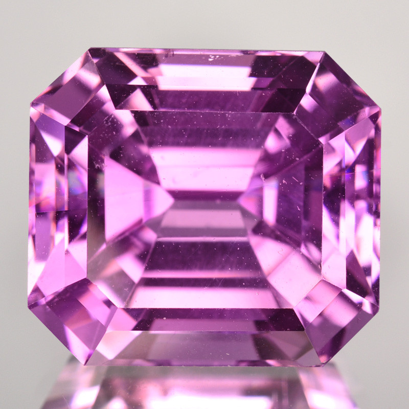 27.65 Cts Beautiful Natural Pink Kunzite Square Cut Afghanistan