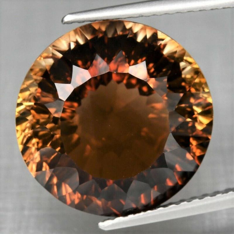 12.35  ct. Top Quality 100% Natural Topaz Orangey Brown Brazil