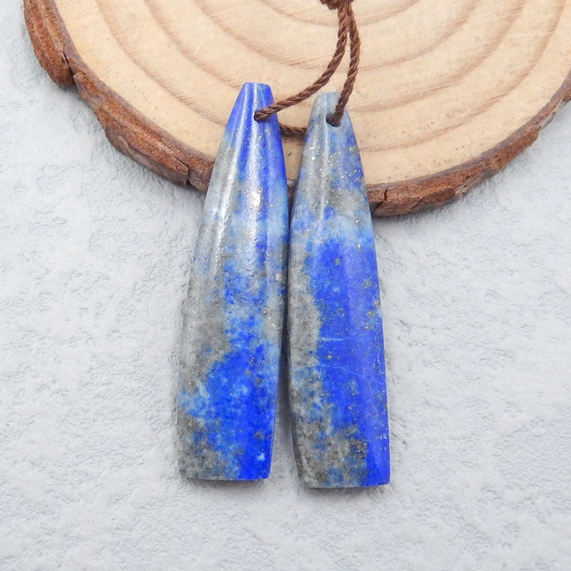 H1700 - 31cts High quality Lapis Lazuli natural earrings beads, stone for e