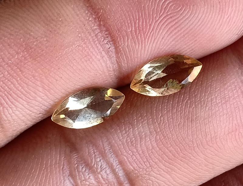 5x10mm Citrine Pair Natural Marquise Faceted Gemstone VA1635
