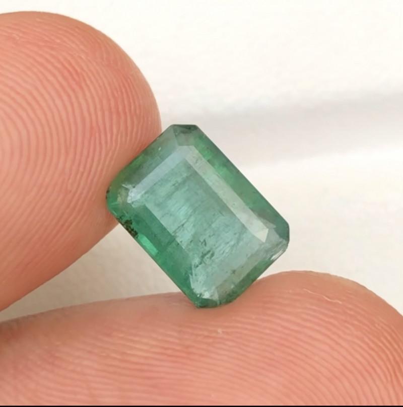 2.50 Ct Brilliant Color Natural Zambian Emerald Gemstone