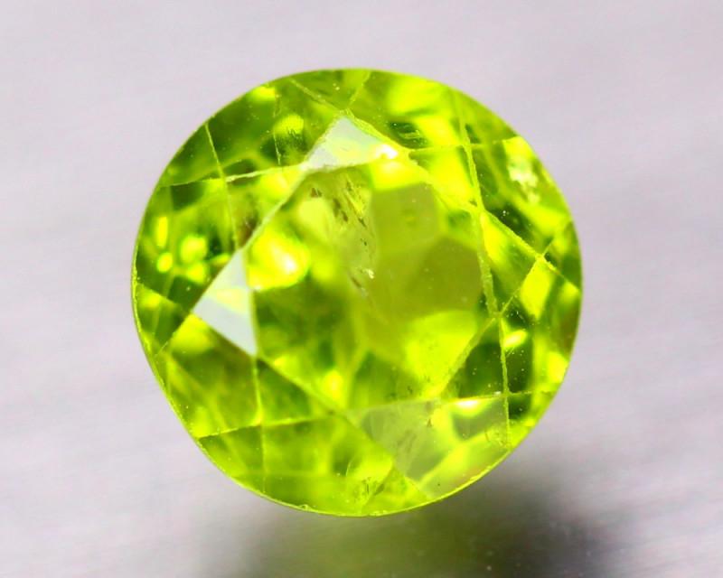 3.42ct Natural Green Peridot Round Cut Lot B4607