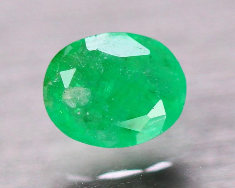 1.42Ct Natural Zambia Green Emerald Oval Cut Lot V8304