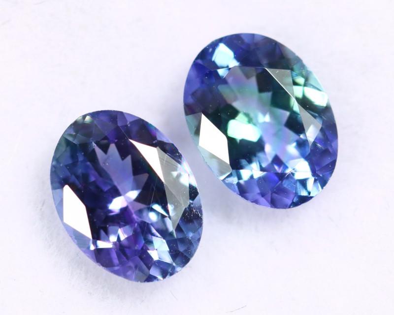 1.84cts Natural Tanzanite Gemstone Pairs / ZBKL1597
