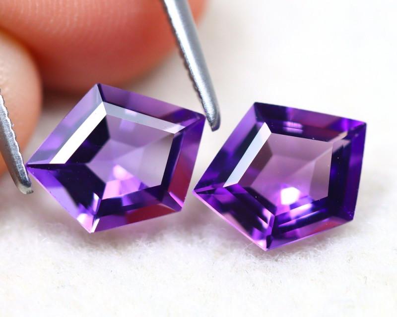 Amethyst 2.46Ct VVS Fancy Cut Natural Bolivian Purple Amethyst SE503