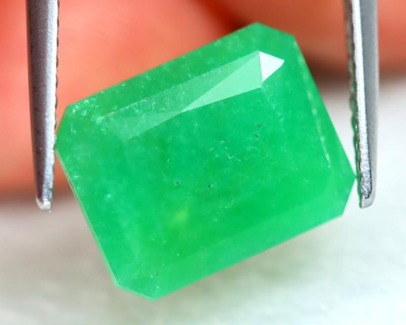 chrysoprase faceted gemstone