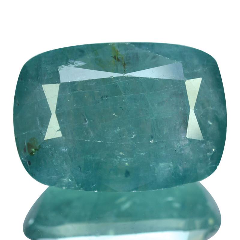 ~RAREST~ 11.10 Cts Natural Grandidierite Bluish Green Cushion Madagascar