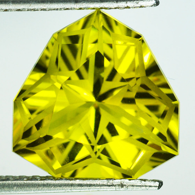 ~CUSTOM CUT~ 13.08 Cts Natural Lemon Quartz Fancy Trillion Brazil