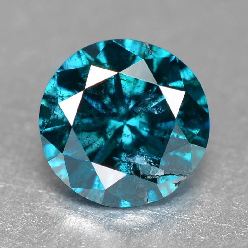 Blue Diamond 0.15 Cts Sparkling Natural Fancy Intense Blue Color