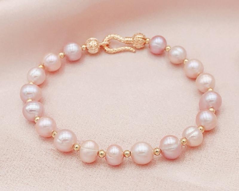 53.67Ct Baroque Freshwater Pearl Beads Bracelet SF332