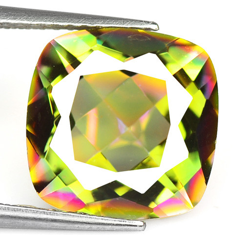 Mystic Topaz 5.57 Cts Rare Fancy Rainbow Color Natural Gemstone