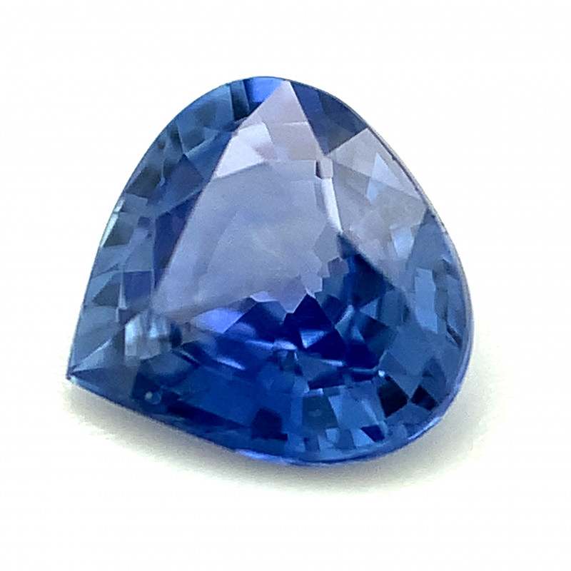 0.79ct Blue Pear Shape Sapphire