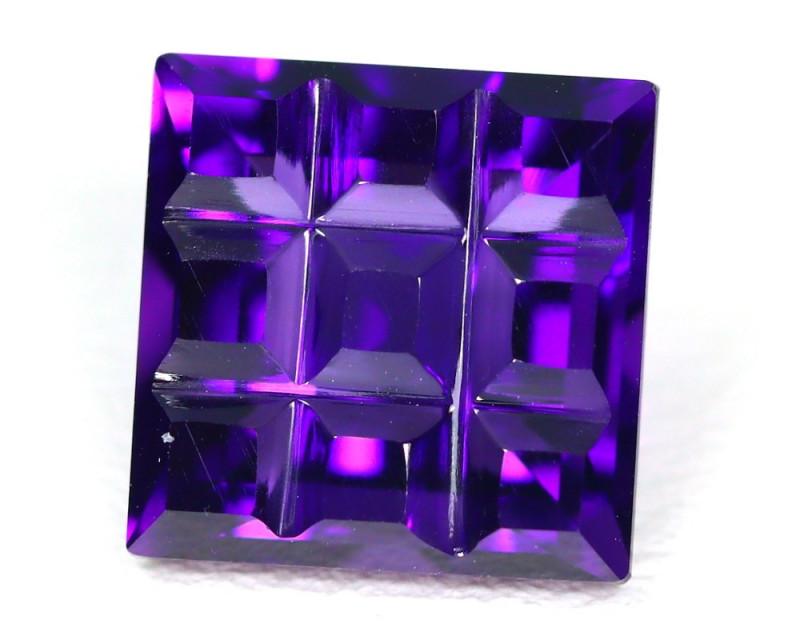 Amethyst 3.16Ct VVS Fancy Cut Natural Uruguay Violet Amethyst SC637