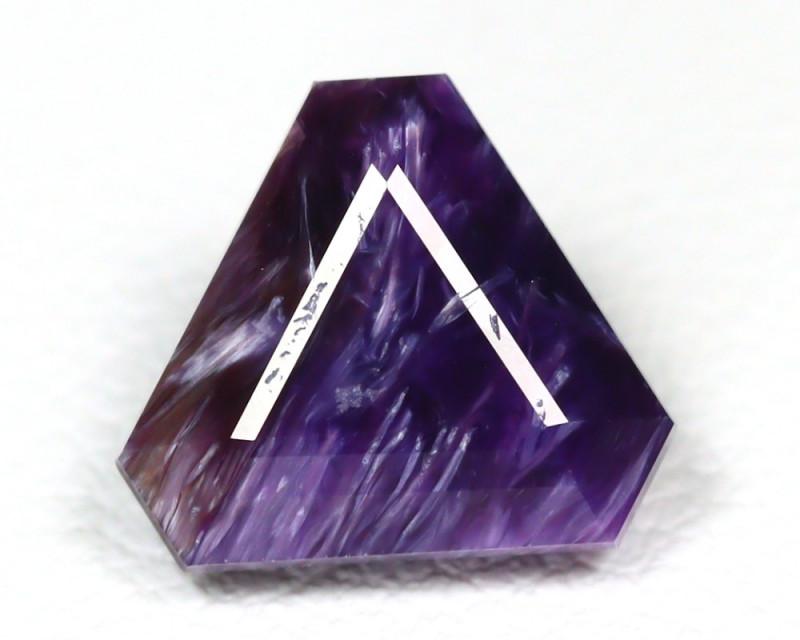 Charoite 2.04Ct Trillion Cut Natural Violet Color Russian Charoite SA167