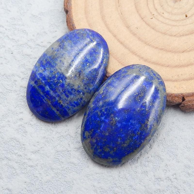 P0747 - 61cts Natural Oval Lapis Lazuli Gemstone Cabochon,Handmade Gemstone