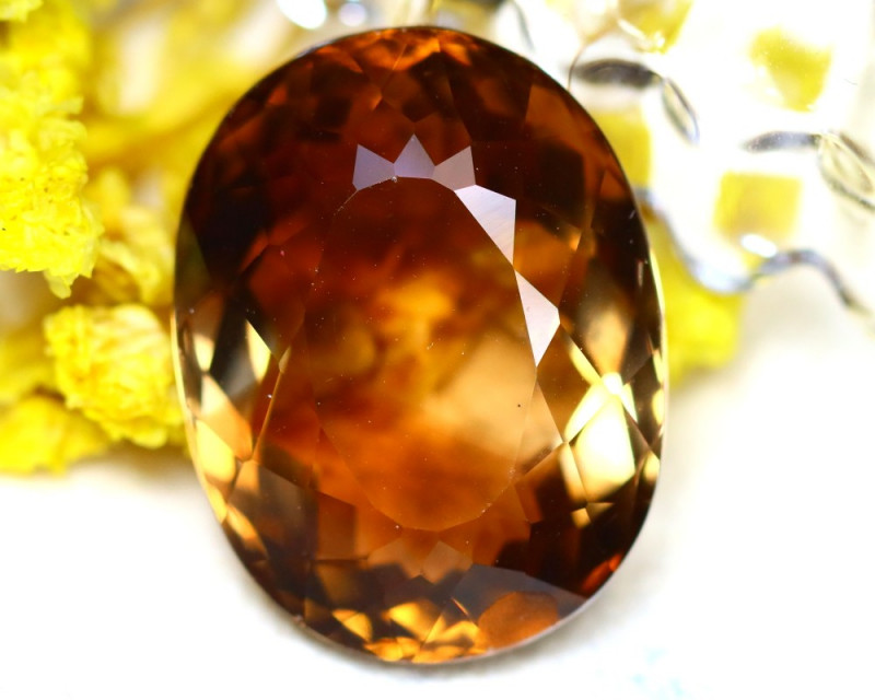 Whisky Topaz 27.65Ct Natural Imperial Whisky Topaz DR675/A46