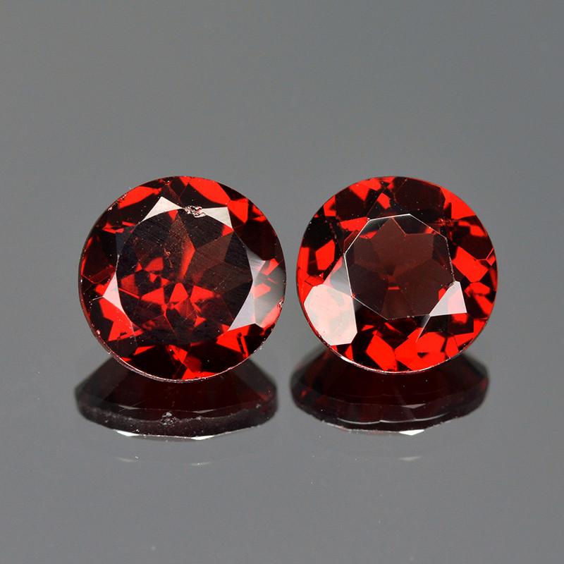 Rhodolite Garnet 2.75 Cts 2Pcs Unheated Natural Cherry Red Gemstone